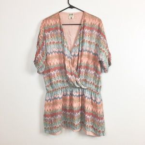 Haute Hippie Printed Silk Boho Tunic Dress-S